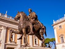 Equestrian Statue of Marcus Aurelius Stock Photos
