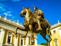 Equestrian Statue of Marcus Aurelius Royalty Free Stock Photography