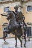 Equestrian Statue of Marcus Aurelius at Piazza del Campidoglio, Royalty Free Stock Image