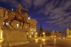 Equestrian Statue of Marcus Aurelius Stock Images
