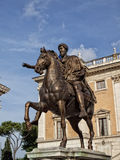The Equestrian Statue of Marcus Aurelius in Rome Stock Photo