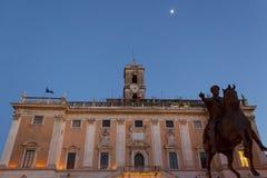 Equestrian Statue of Marcus Aurelius - Rome Royalty Free Stock Images