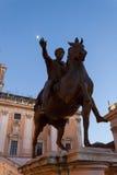 Equestrian Statue of Marcus Aurelius - Rome Stock Photography