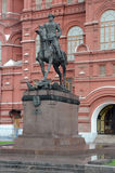 Equestrian statue of Marshal Georgy Zhukov royalty free stock images