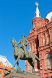 Equestrian statue of Marshal Zhukov royalty free stock image