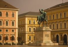 Equestrian statue of Maximilian Stock Photography