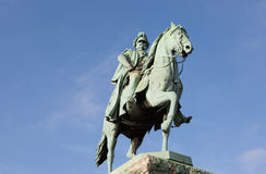 Equestrian statue of the member of Hohenzollern dynasty Stock Image