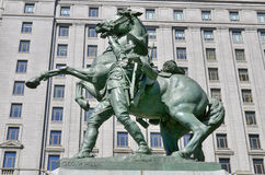 Equestrian statue Stock Photo