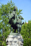 Equestrian statue. MONTREAL CANADA 07 23 2016: Equestrian statue was sculpted by George W. Hill as part of the Montreal Boer War Memorial is located at Stock Image
