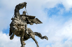 Equestrian statue from Monument of the Asens Stock Photos