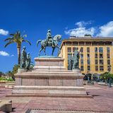 The equestrian statue of Napoleon Royalty Free Stock Images