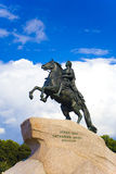 The equestrian statue of Peter the Great royalty free stock image