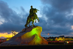 Equestrian statue of Peter the Great Royalty Free Stock Images