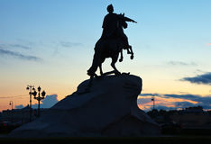Equestrian statue of Peter the Great Stock Images