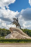 The equestrian statue of Peter the Great, Saint Petersburg, Russ royalty free stock images