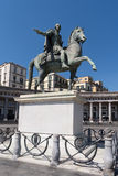 Equestrian statue at Plebiscito Square, Naples, Italy Royalty Free Stock Photography
