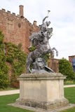 Equestrian statue, Powis castle, Welshpool, Wales, England Royalty Free Stock Photo