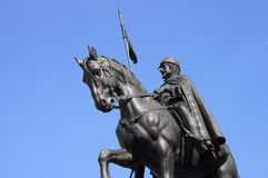 Equestrian statue in Prague - RAW format Stock Photos