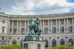 Equestrian statue of Prince Eugene of Savoy (Prinz Eugen von Sav Royalty Free Stock Photography
