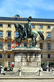 Equestrian statue of Schwarzenberg, Schwarzenbergplatz in Vienna, Austria Royalty Free Stock Photo