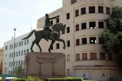 Equestrian statue of Simon Bolivar liberator of Bolivia and Peru Columbia Ecuador Venezuela Panama in Cadiz. CADIZ, SPAIN - JULY 4, 2011:Equestrian statue of royalty free stock images