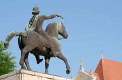 Equestrian Statue of St. Stephen in Gyor Royalty Free Stock Photo