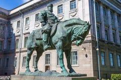 Equestrian statue to Emperor Alexander III, St. Petersburg Stock Images