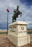Equestrian statue to the general Gregorio Luperon in Puerto Plata, Dominican Republic. Stock Photography