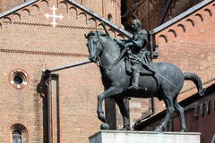 Equestrian statue of the Venetian general Gattamelata in Padua, Royalty Free Stock Photography