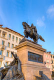 Equestrian statue of Victor Emmanuel II, Venice, Italy Stock Photography