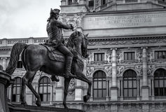 Equestrian Statue in Vienna's Maria-Theresien-Platz Royalty Free Stock Images