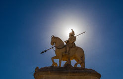 Equestrian statue. Of a warrior Royalty Free Stock Photography