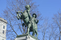 Equestrian statue was sculpted by George W. Hill Royalty Free Stock Photo