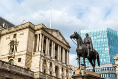 Equestrian statue of Wellington in London Stock Photography