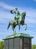 Equestrian statue of William II of the Netherlands in The Hague, Netherlands Royalty Free Stock Images