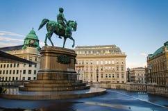 Equestrian statuy Archduke Albrecht, diuk Teschen, Wiedeń, Au fotografia stock