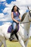 Equestrian su a cavallo immagini stock libere da diritti