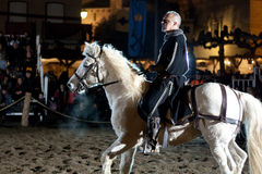 Equestrian tournament between knights Stock Images
