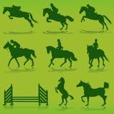 Equestrian vector Royalty Free Stock Photos