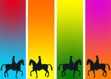 Equestrian very graphic Stock Images