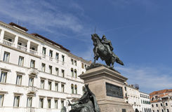 Equestrian Victor Emmanuel II monument in Venice, Italy. Royalty Free Stock Photos