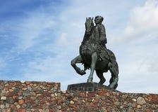 Equestrian zabytek Rosyjska imperatorowa Elizabeth Petrovna B Zdjęcia Royalty Free