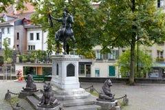 Equestrian zabytek Rudolf Von Erlach zdjęcia stock