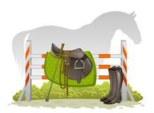 Equestrian zestaw ilustracji