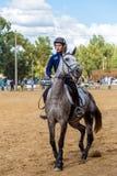 Equestrianism em uma reserva portuguesa do cavalo da natureza fotos de stock royalty free