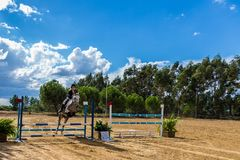 Equestrianism in a Portuguese Nature Horse Reserve stock images