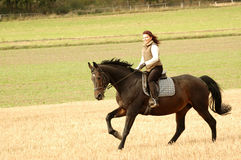 Equestrienne. Stock Images