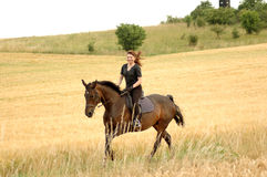 Equestrienne. Photo libre de droits