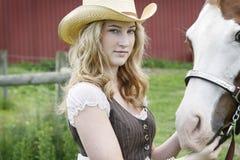年轻Equestriennes梦想 免版税图库摄影