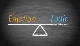 Equilíbrio da emoção e da lógica ilustração stock